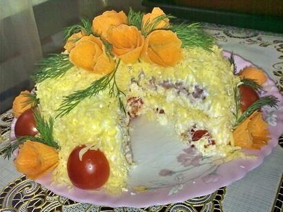 Праздничные салаты на свадьбу и рецептами