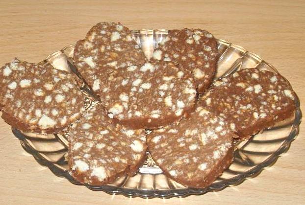 сладкая колбаска рецепт из печенья с фото