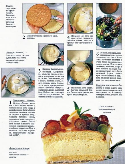 сабайон Рецепты кремом тортов с